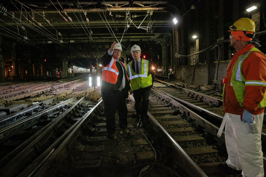 Amtrak President and CEO Wick Moorman Tours Tracks at New York Penn Station